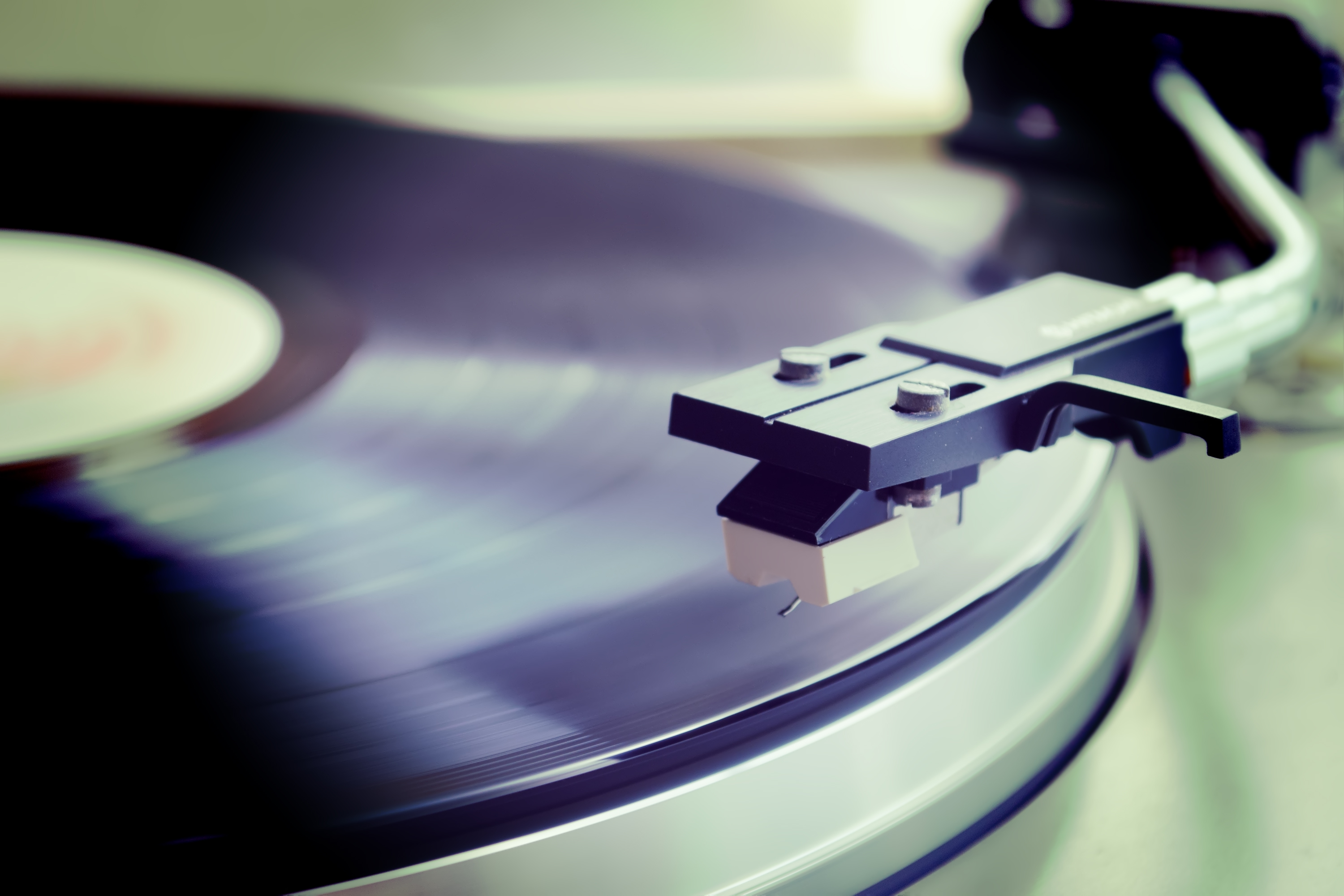 Vinyl on Turntable